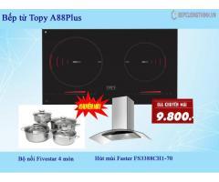 Khuyến mãi mua 1 tặng 2 với bếp từ Topy A88Plus